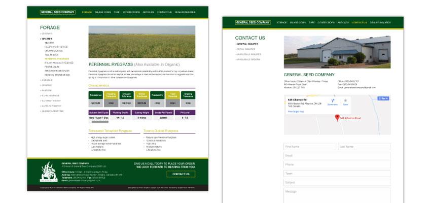 Genereal Seed Website